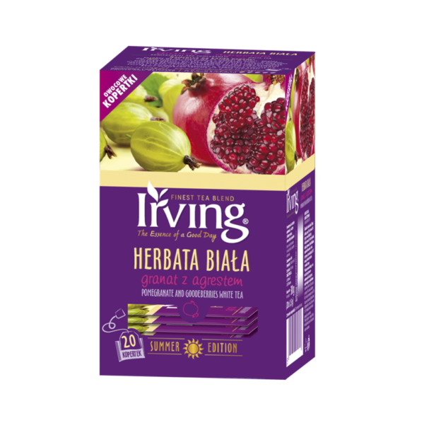 Herbata Irving Biała Granat z agrestem