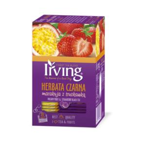 Herbata Irving czarna truskawka z marakują