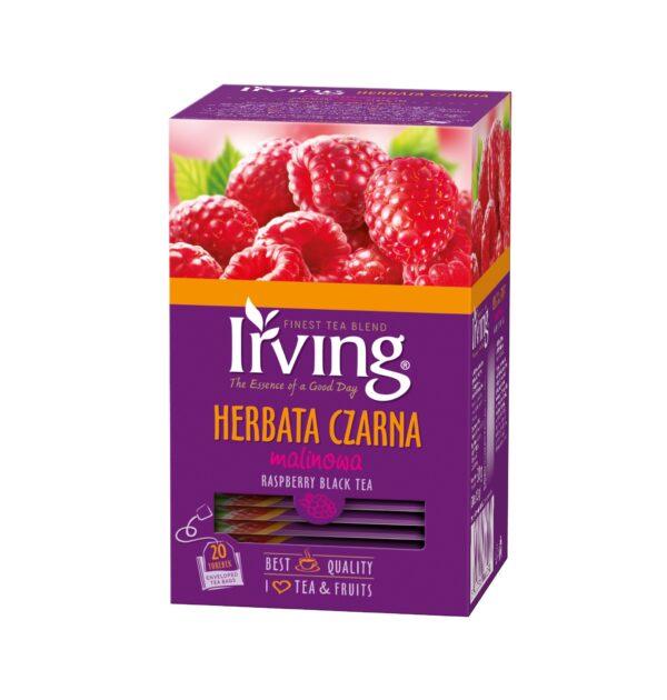 Herbata Irving czarna malinowa 20 kopertek