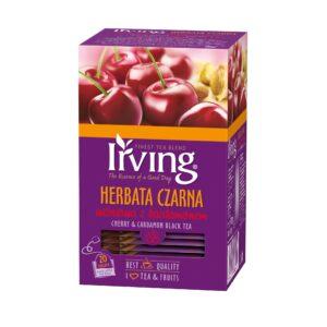 Herbata Irving czarna wiśniowa z kardamonem