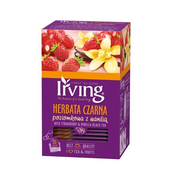 Herbata Irving czarna poziomkowa z wanilią