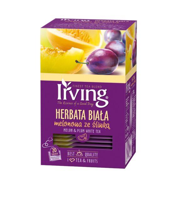 Herbata Irving biała melonowa ze śliwką