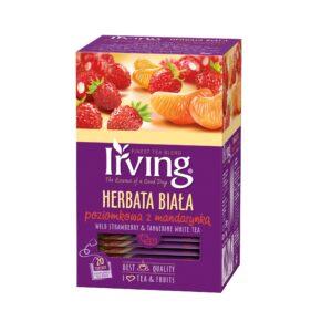 Herbata Irving biała poziomkowa z mandarynką