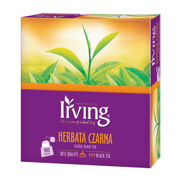 Herbata Irving czarna 100 kopertek