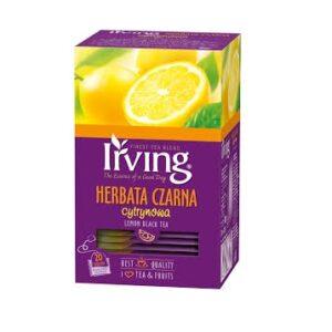 Herbata Irving czarna cytrynowa kopertki