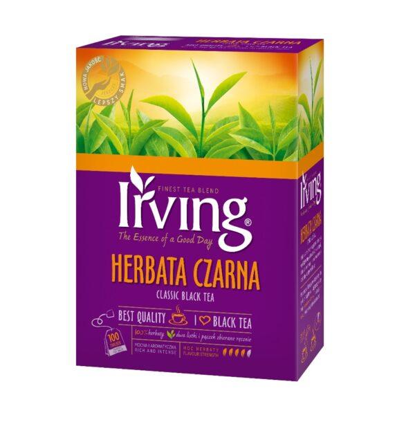 Herbata Irving czarna 100 saszetek