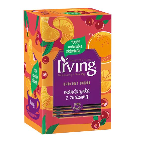 Herbata Irving czarna mandarynka z żurawiną