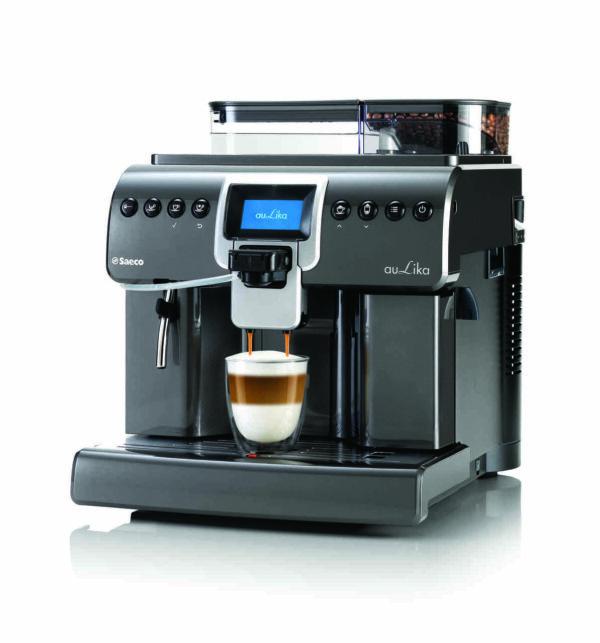 Saeco Aulika Focus Antracyt - ekspres do kawy - ujecie z boku
