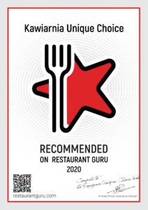 Recommended on Restaurant Guru 2020